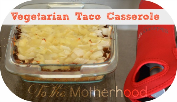 The Vegetarian Taco Casserole was a big hit! This was just a sampling of what we had to eat.