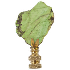 Hillary Thomas Rock n' Rolla Green Tangerine Lamp Finial $55