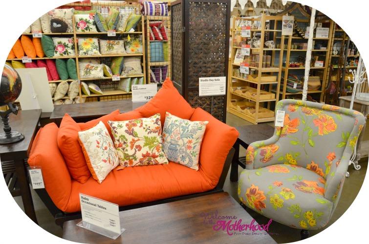 World Market Orange Love Seat