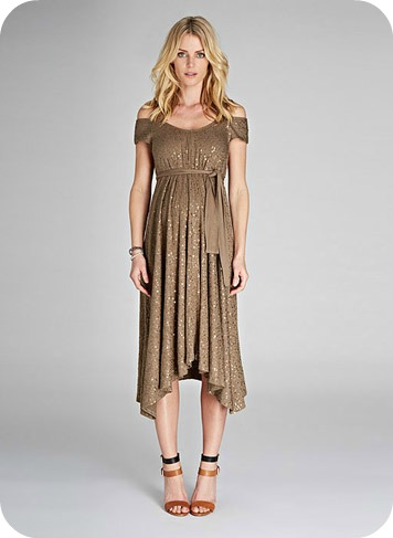 Marie Sequin Maternity Dress $399