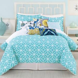 Trina Turk Trellis Turquoise Comforter 3 Piece Set $200