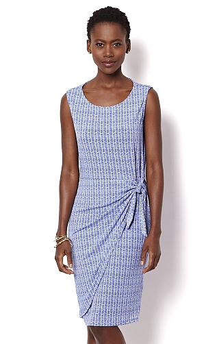 Starry Blue Wrap Dress $89.50 As Seen in InStyle