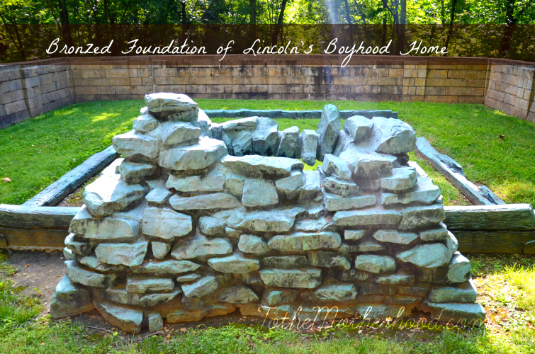 Bronzed Foundation of Lincoln's Boyhood Home