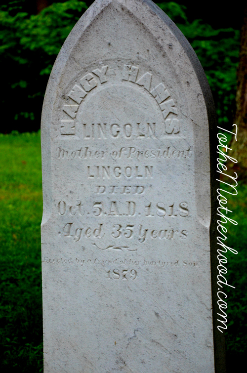 Nancy Hanks Lincoln Grave - Mother of President