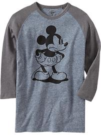 Men's Disney© Mickey Mouse Raglan Tee $14.94