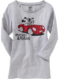 Disney© Mickey & Minnie 3/4-Sleeve Tee $16.94
