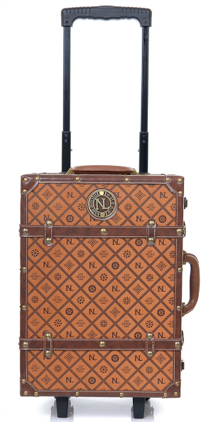 Dark Brown Signature Travel Suitcase, $118 at Unique-Vintage