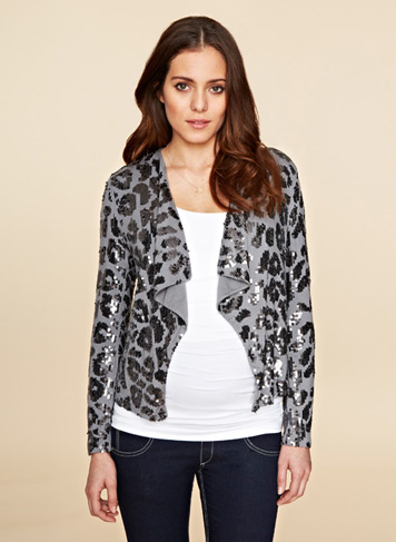 Florence Sequin Maternity Jacket $265