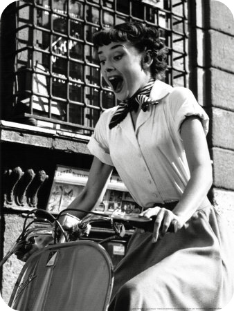 Audrey Hepburn in A Roman Holiday