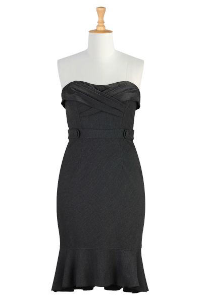 Ruffle Hem Strapless Sheath Dress $69.95