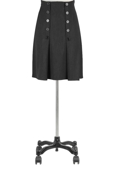 Buttoned Pleat Front Skirt $59.95