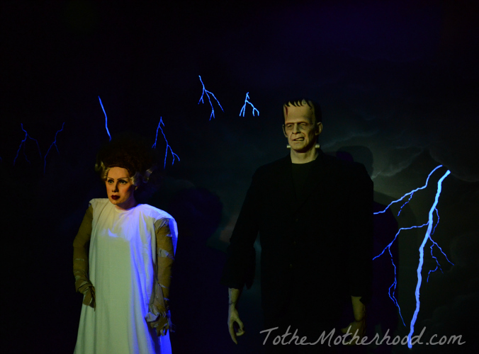 Frankenstein and His Bride Wax Figures Hollywood Wax Museum