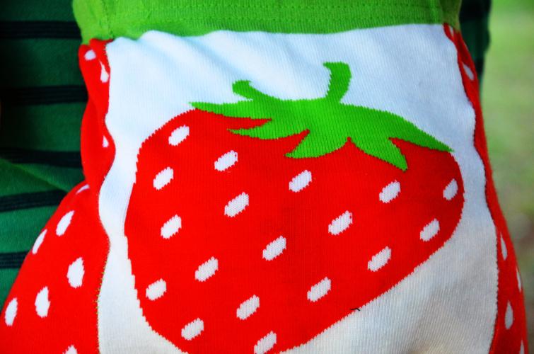Doodle Pants Strawberries Leggings