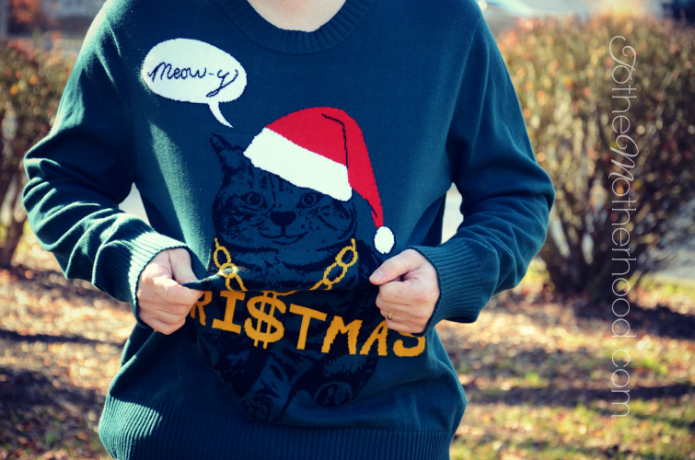 Meowy Christmas Sweater Have a #HilariousHoliday with Ugly Christmas Sweaters at Target