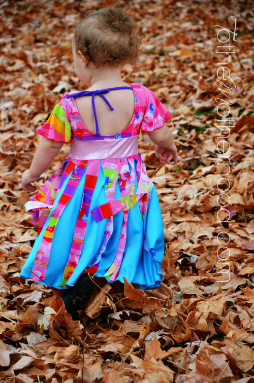 Pinwheel Dress Rainbow Petals Surprise