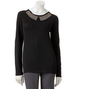 AB Studio Embellished Sweater Was $54.00 Now $21.60