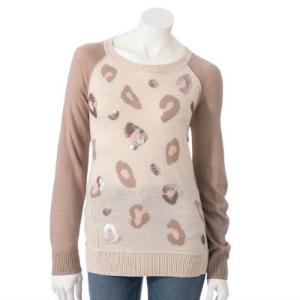 Apt. 9® Animal Print Embellished Sweater Was $50.00 Now $23.99