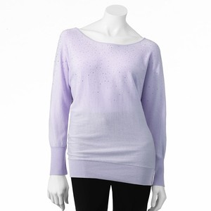 ELLE™ Embellished Dolman Sweater Was $54.00 Now $34.99
