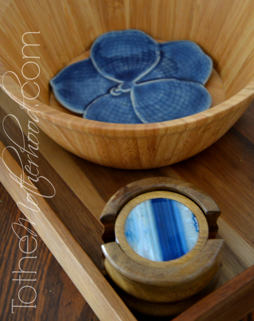 Ocean Treasure Unique Wood and Gemstone Coasters