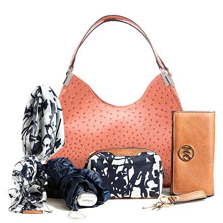 Irene Ostrich Shoulder Bag