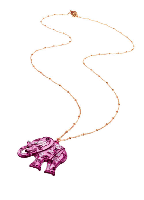 Kohl's Pink Elephant Necklace