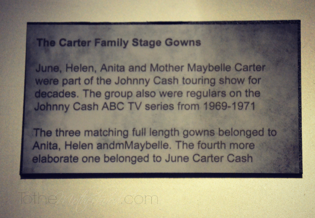 The Carter Family Stage Gowns