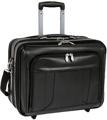 McKlein LaSalle Leather Laptop Overnight Wheeled Briefcase, $199.97