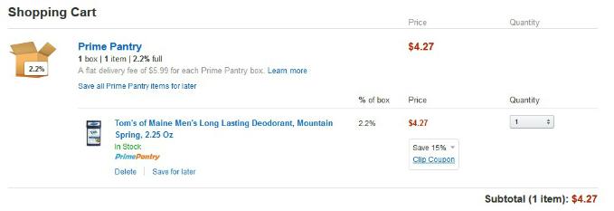 Amazon Prime Shopping Cart