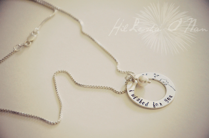 I Wished For You Sterling Silver Hand Stamped Necklace