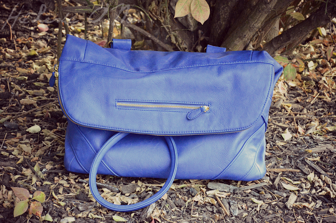 Jordana Paige Cobalt Blue Quinn Handbag