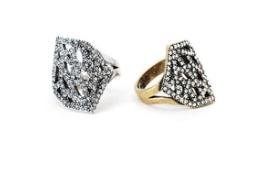 Geo Diamond Cocktail Ring $65