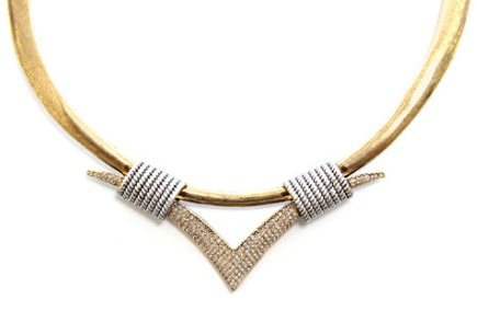 The V Collar Necklace $175
