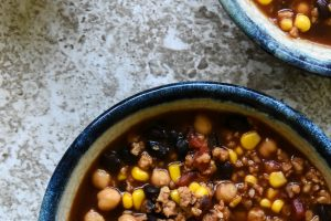 Slow Cooker Vegetarian Taco Soup Recipe