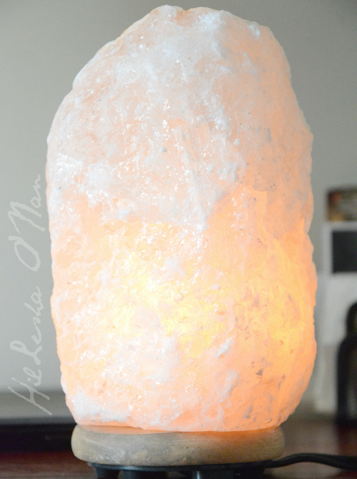 Himalayan Salt Lamp with Neem Wood Base