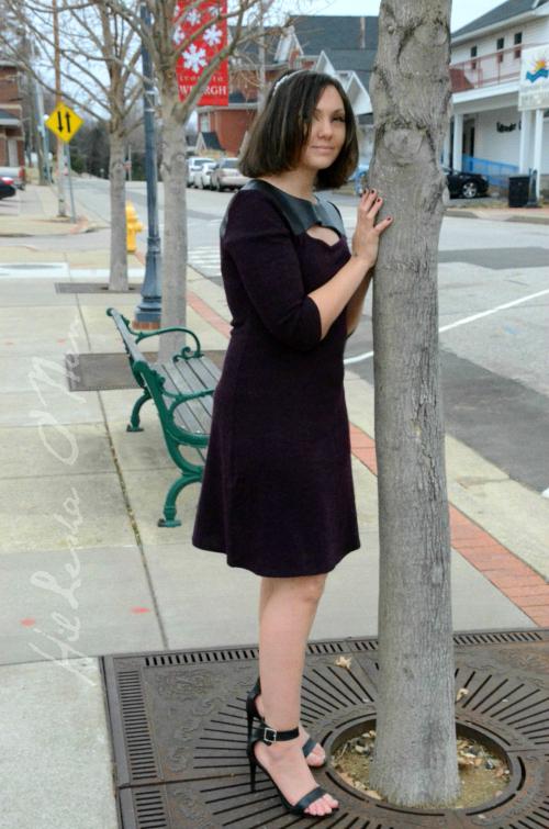 Textured Keyhole Dress