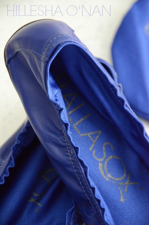 Ballasox Brooke Ballet Flats in Cobalt Blue