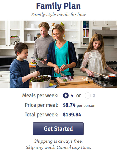 Family Blue Apron Meal Plan