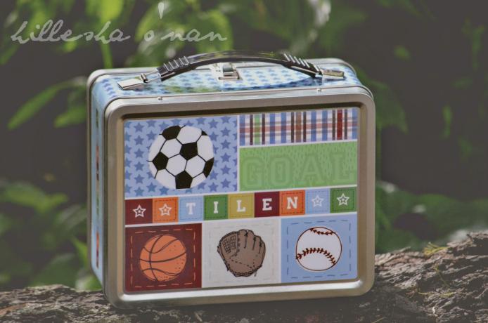 I See Me Kick, Score, Run! Personalized Lunch Box