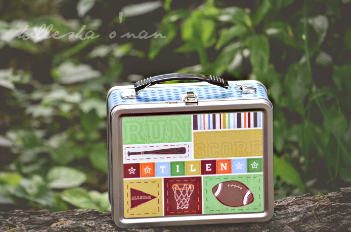 Kick, Score, Run! Personalized Lunch Box by I See Me