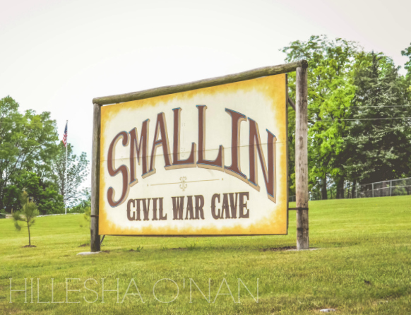 Smallin Civil War Cave Sign