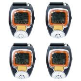 Image Entertainment - 4 x Outdoor Sport Hiking Fashion Digital Walkie Talkie 2-Way Radio Wrist Watch