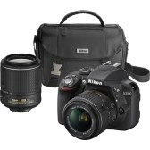 Nikon - D3300 DSLR Camera with 18-55mm and 55-200mm VR Lenses