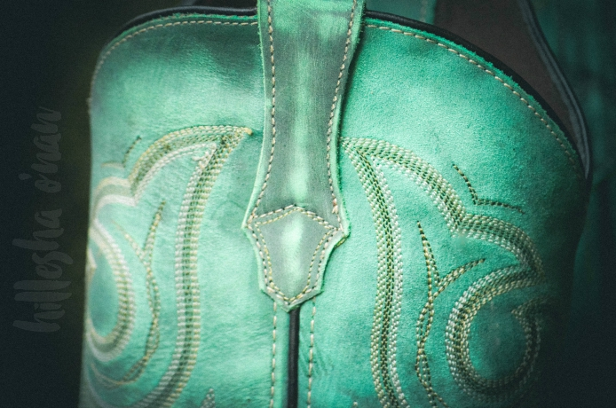 Marbled Turquoise Western Boots