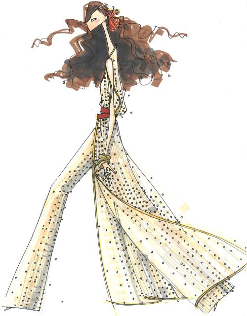 Star Wars Diane von Furstenberg DVF Sketch