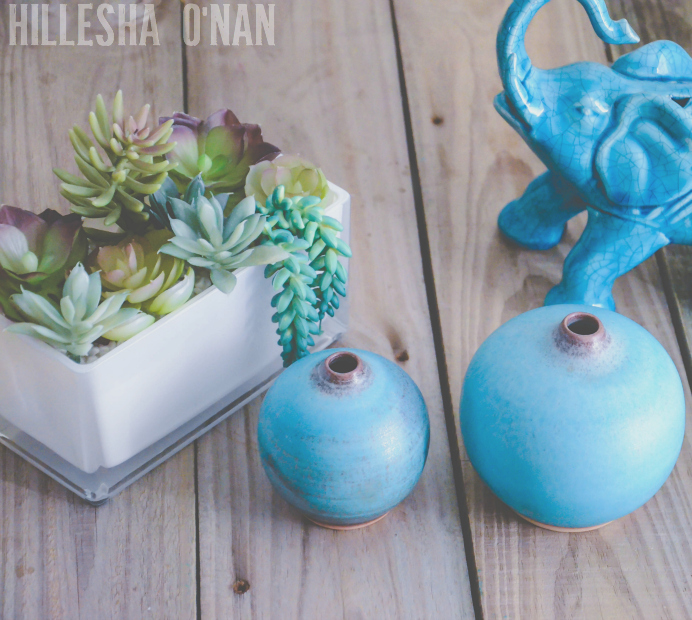 Novica Turquoise Realm Vases