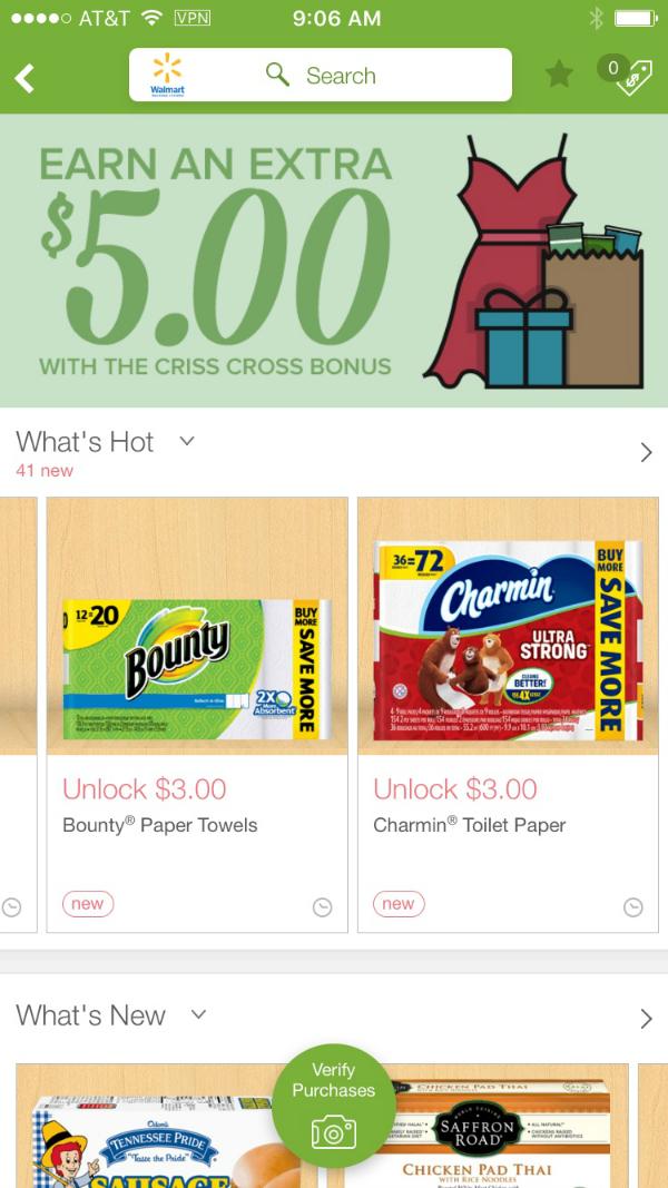 Walmart April 2016 Deals on ibotta App