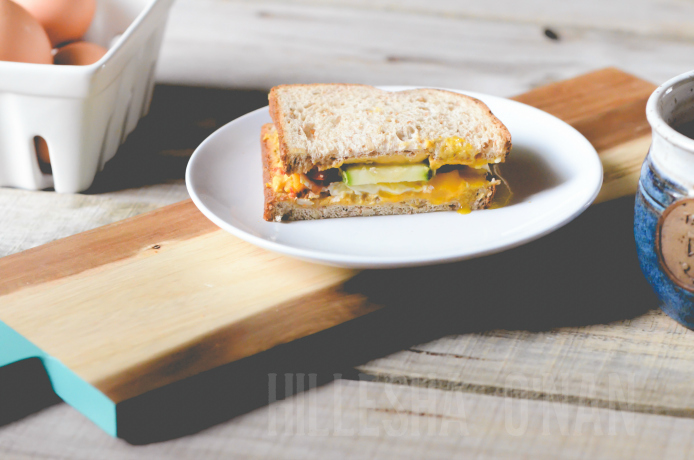 Recipe for Breakfast Veggie Sandwich