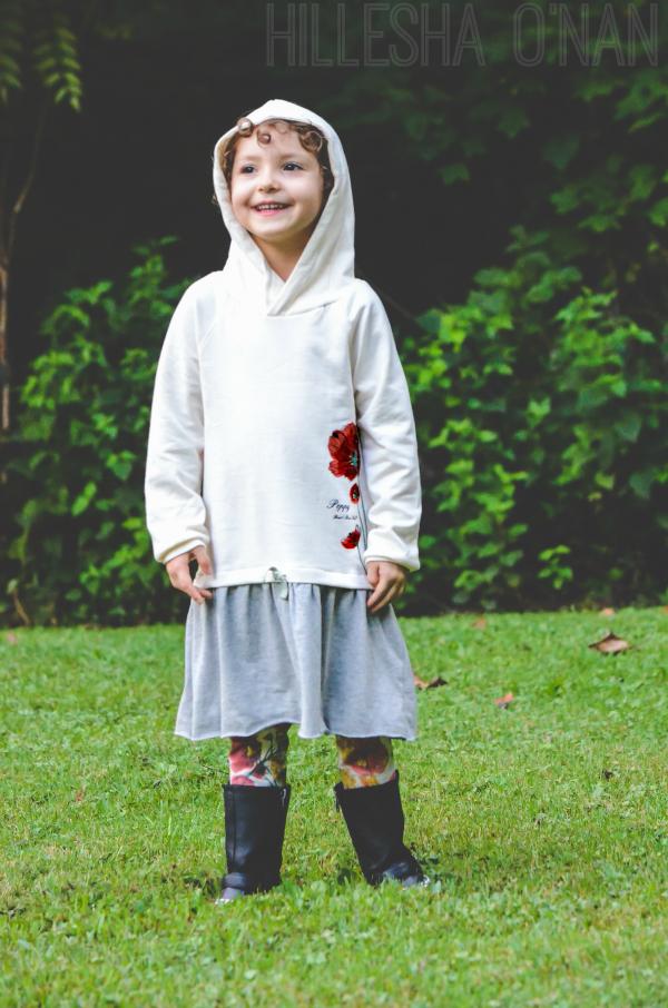 Kids Hooded Dress & Legging Set