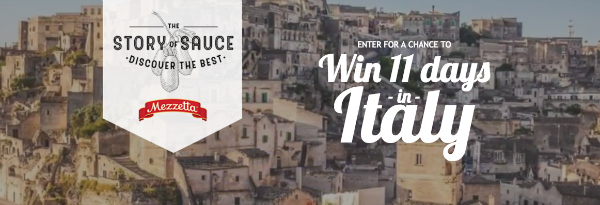 The Story of Sauce Sweepstakes Win a Trip to Italy
