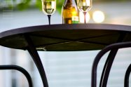 Patio Makeover with Enbrighten Cafe String Lights by Jasco